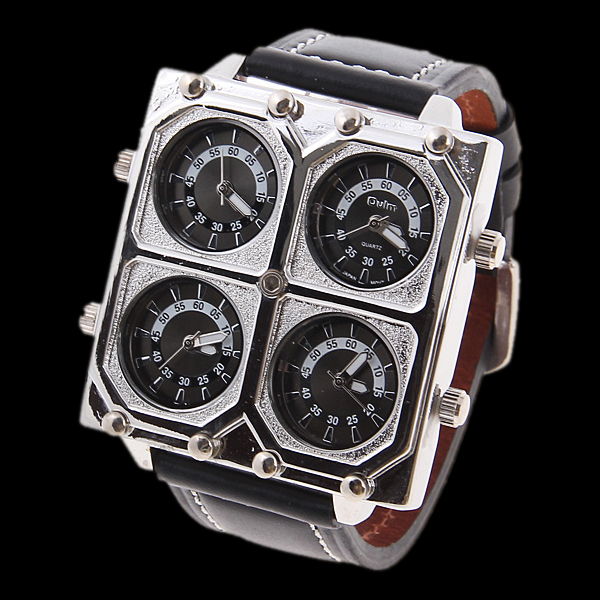 OULM: QUAD Military Style 4 Time Zone Cool Watch LED Watch ...