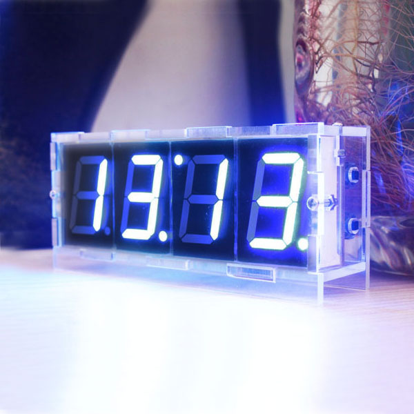 Do it yourself digital led clock kit w protective case ledwatchstop do it yourself digital led clock kit w protective case bg142210 solutioingenieria Images
