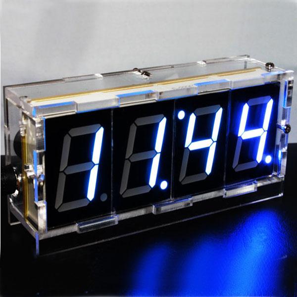 Do it yourself digital led clock kit w protective case ledwatchstop do it yourself digital led clock kit w protective case bg142210 solutioingenieria Gallery