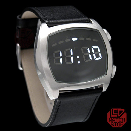 METRO ROUND  Rare limited edition cool LED Watch- SILVER 21e3da404a